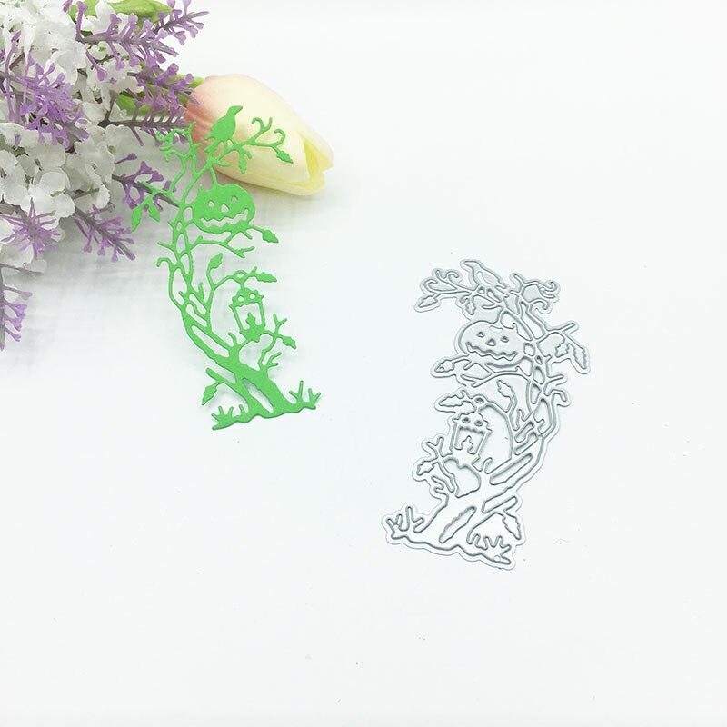 Julyarts Helloween arbre à citrouille métal coupe Die pour Scrapbooking Nouveau Arrivage timbres Die métal artisanat cadeau découpé point