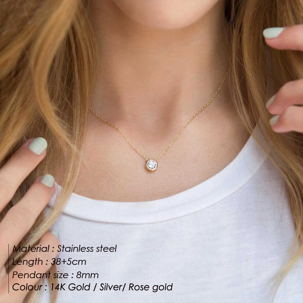 Korean Punk Fashion ladies Jewelry Stainless Steel Necklace ladies Gold Necklace Jewelry Fashion Necklaces 2019