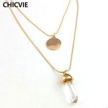 Chicvie boho Популярные ожерелья и кулоны многослойное Золотистое