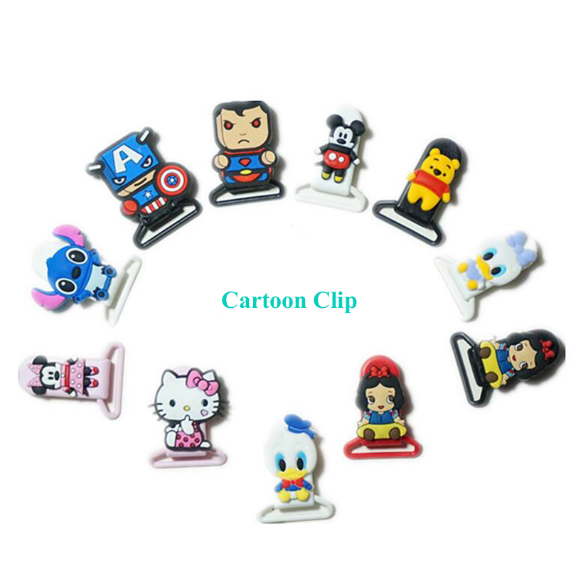 1pc Cartoon Pacifier Clips Gift Dummy Pacifier Holder Cute Baby Nipple Feeding Supplies Kid Funny Garment Clip for Teether Toy