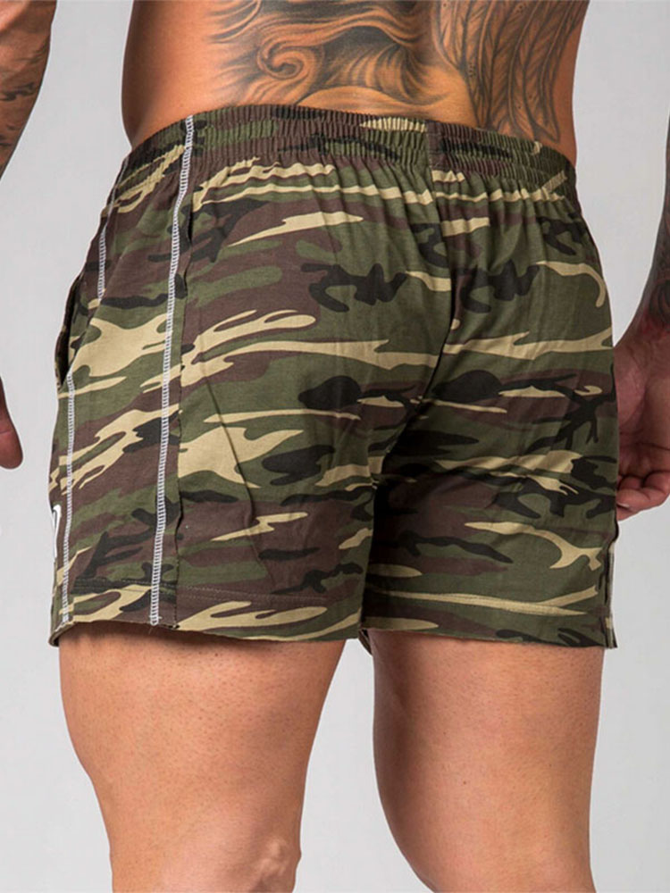 GYMOHYEAH Fashion Brand New Camouflage Shorts Low Waist Men Casual Trunks Comfort Homewear Fitness Workout Shorts