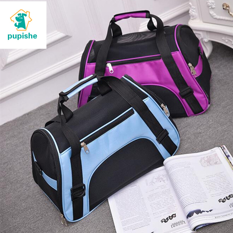 Pet Backpack Messenger Carrier Bags Cat Dog Carrier Outgoing Travel Teddy Packets Breathable Small Pet Handbag