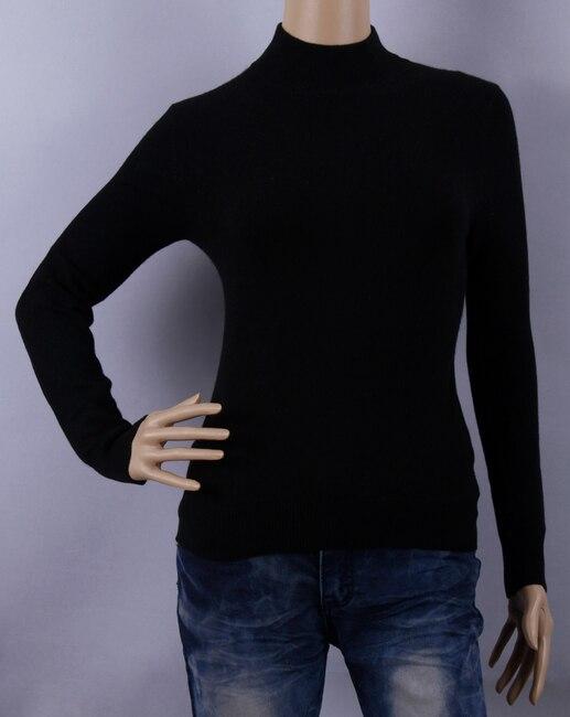 Pur Cachemire Chandail Femmes Col Roulé Noir Pull Chandails Chaud Naturel Tissu Haute Qualité Liquidation Livraison Gratuite