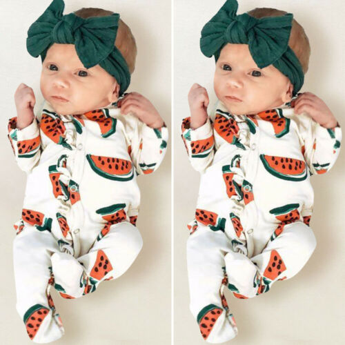 Toddler Kids Baby Girls Boys Long Sleeve Romper Jumpsuit Cotton Outfit One-Pieces Autumn Cotton Clothes