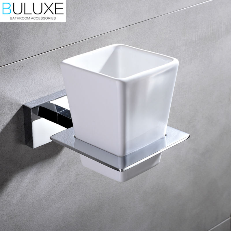 Buluxe Brass Bathroom Accessories Toothbrush Holder Wall