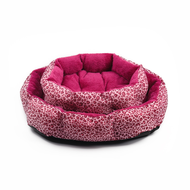 Hot sales! NEW! Colorful Leopard print Pet Cat and Dog Bed Pink, Yellowish brown, Purplish red, Brown, Gray, Yellow SIZE M,L 8