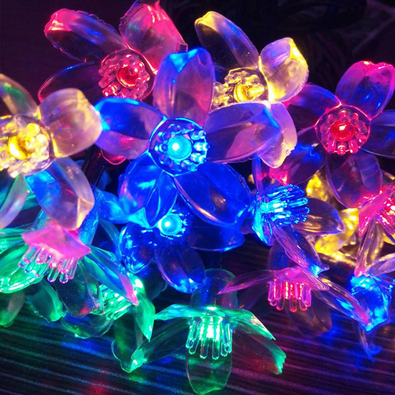 Sakura Solaire Guirlande Lumineuse 20 LED Cerisier En Plein Air - Éclairage festif - Photo 4