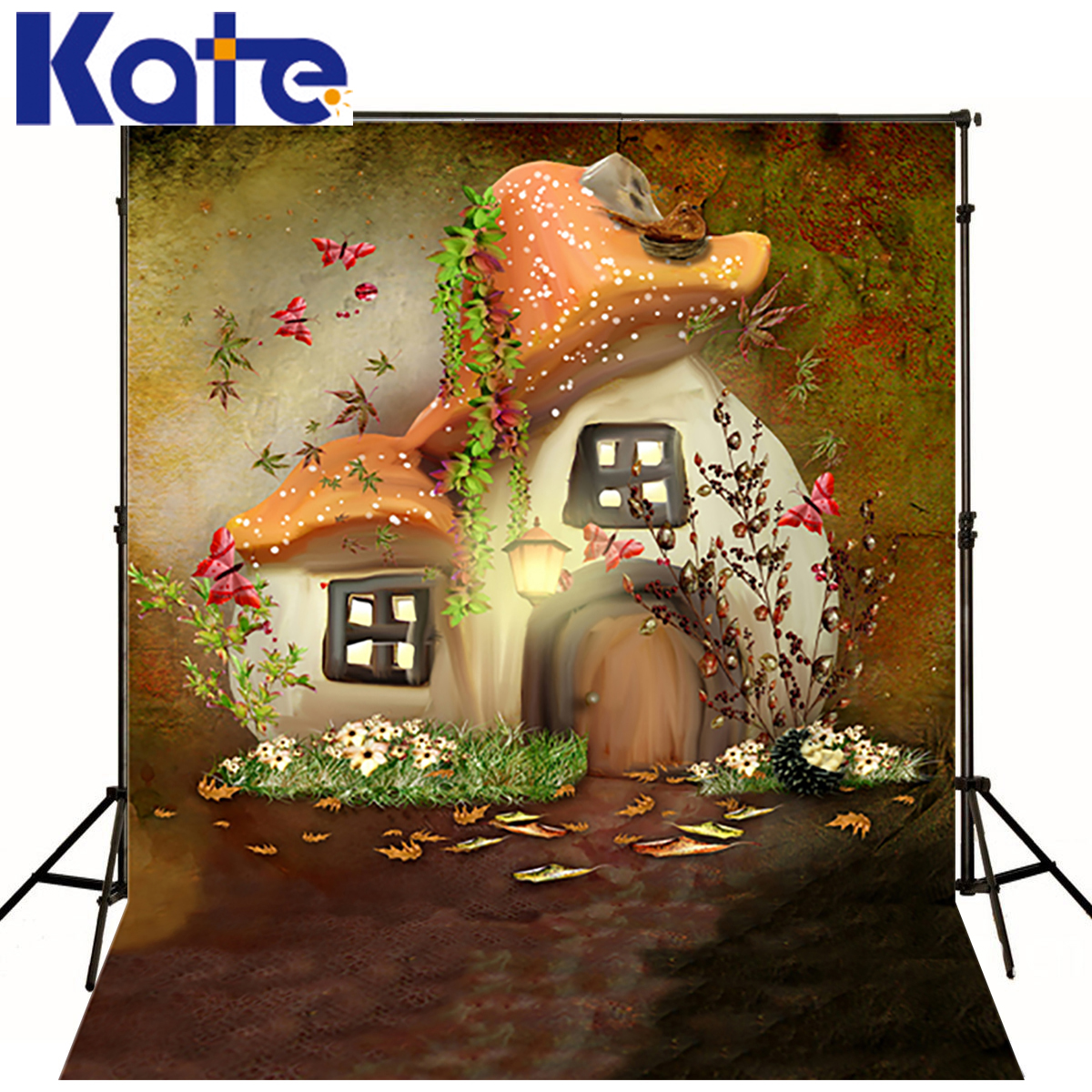 Kate Newborn Fairy Tale World Photography Backdrop Mushroom Forest Natural Scenery Wedding Backdrops for Photography Studio