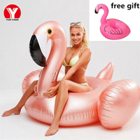 Rose Gold Inflatable Flamingo Pool Float Flamingo Swimming Floats Pool Party Summer Inflatable Swim Pool Floater for Adult