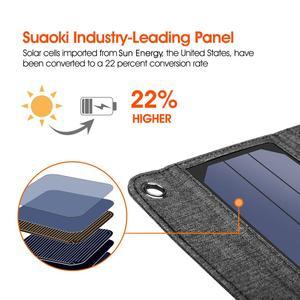Image 5 - لوحات شمسية محمولة من Suaoki بقدرة 14 وات مزودة بشاحن 5 فولت و2. 1 أمبير تعمل بمنفذ USB للهواتف الذكية وأجهزة الكمبيوتر المحمول الخارجية