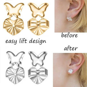 6d7032893 ANRUIW7 Backs Post Set Silver Earrings Jewelry Accessories