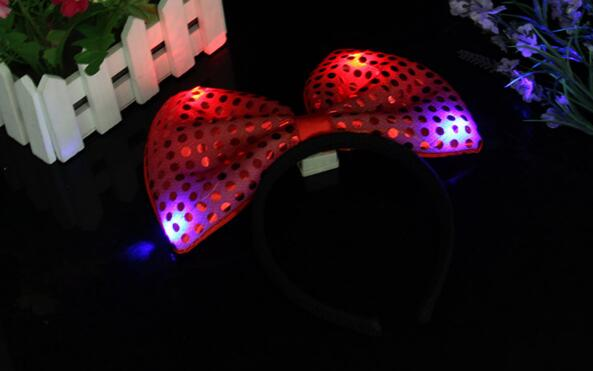 Светсветодио дный ящийся в темноте светодиодный светящийся галстук-бабочка шпилька Рождественский светящийся галстук-бабочка повязка на голову красочная повязка на голову детская игрушка YH1052