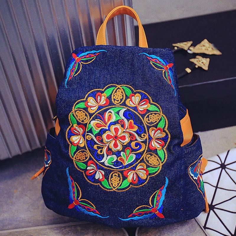 New Embroidery Backpack Women Unique Nice School Bag Ethinic Travel Rucksack Shoulder Bags Women National Style Backpacks Girls