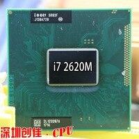 Original Intel Core Processor I7 2620M 4M Cache 2.7 GHz Laptop Notebook Cpu Processor Free Shipping I7 2520M