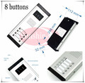 Outdoor camera CCD lens outdoor unit Video door phones intercom systems with 8 buttons for 8 office/villas/apartments/Hotles