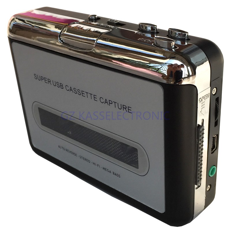 2017 new walkman cassette player converter, convert tape cassette to MP3 through PC for Windows7 8 10 MAC OS, Free shipping ezcap232 micro sd tape cassette to mp3 converter playback auto reverse
