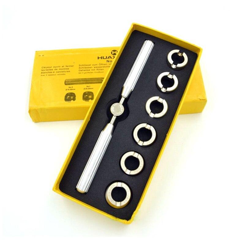 f98e060bb42 5537 18.5mm ~ 29.5mm Relógio Tamanho do Relógio Em Aço Inox Abridor de 6  Ferramentas de Abertura Para Trás