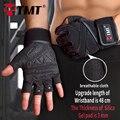 TMT Medio Dedo Antideslizante Transpirable Guantes de Protección A Prueba de Golpes Con Mancuernas Pesas Gimnasio Body Building Ejercicio de Entrenamiento
