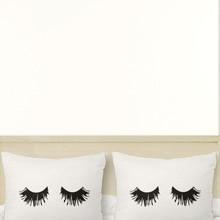 50*76cm Novelty Eyelash Pillow Cover Set Funny Sleeping Couple Eyes Lashes Pillow Cases Sets 20×30″