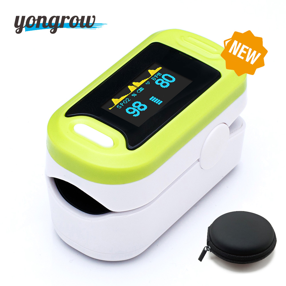 Yongrow OLED Pulse Oximeter Digital Pediatric Fingertip Oximeter  Blood Oxygen Saturation Monitor Portable Pulse Oximeter G pc 60nw oximetro de dedo pulse oximeter blood saturometro monitor spo2 pr oximetro de pulso portable pulsioximetro