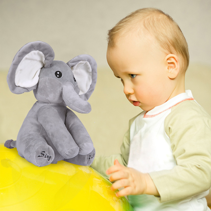 Wholesale Elephant Plush Toy Sing and Play Elephant Plush Stuffed Toys Interactive Funny Baby Doll Kawai Animal Electronic Toys