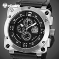 INFANTRY Aviateur Men Watches Chronograph Quartz Watches Relojes Waterproof Luxury Brand Swim Sport Watches Luminous Clocks