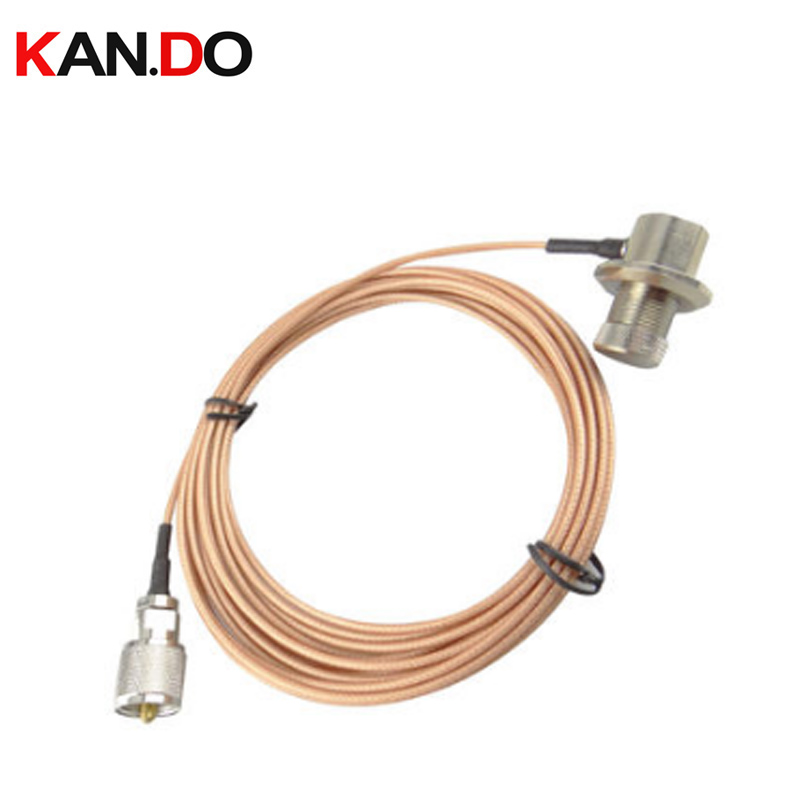 5 Meters Pure Copper Car Radio Transmission Cable Coaxial Cable For Vehicle Walkie Talkie Feeder Cable For Vehicle Radio