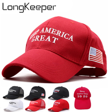 2020 Donald Trump Keep America Great Caps Re-Election Hats Embroidery USA Flag Style Baseball Cap US Hot