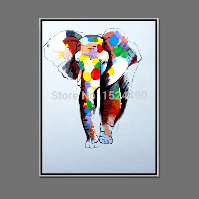 Abstract Modern Canvas Wall Deco Elephant Oil Painting Colorful Paints On Canvas For Wall Art Home Decoration Living Room Decor