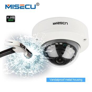 Misecu 2.8 мм vandalproof H265/H264 48 В POE камеры 1080 P 960 P 720 P ONVIF P2P движения обнаружить RTSP email оповещения металлической PoE купольная камера