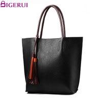 DIGERUI Women Handbag Tassel Top Handle Handbags Female Shoulder Bag PU Bags Women Totes A3374