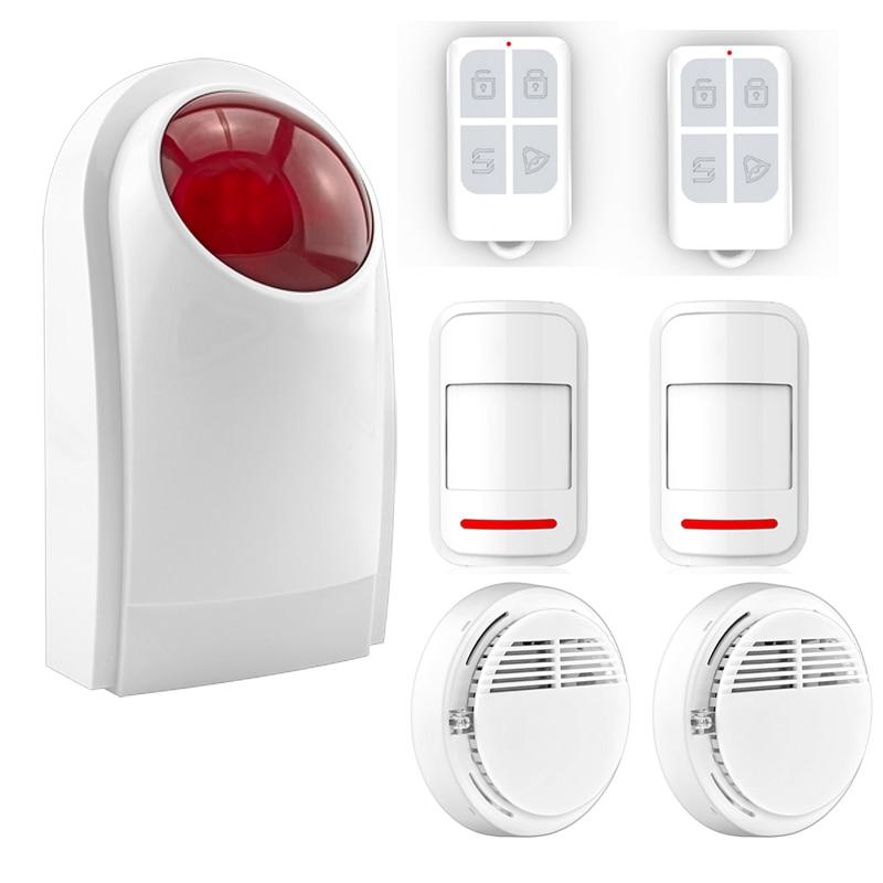 Home Garage Automation Alarm System Security Alarm System Detector Sensor Remote Control Smoke Detector for Home Security