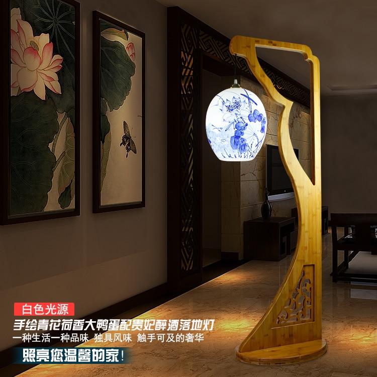 Amerikanischen Stil Wohnzimmer Esszimmer E27 110 V 220 Betrunkene Schnheit Porzellan Bambus Bodenbeleuchtung Standard Lampe