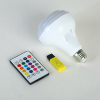 Nuevo e27 led Bombilla bluetooth iluminación inteligente color ajustable home hotel MP3 bombilla