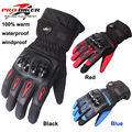 Guantes Luvas Pro-biker Brand Winter Warm motorcycle gloves moto raing motocross Windproof Protective Gloves 100% Waterproof