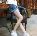 Korean Fashion style Women summer loose big yards casual vintage curling denim shorts womens jean shorts for young girls WS12
