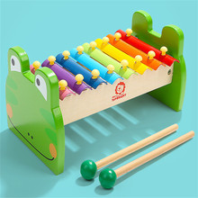 Frogs Shape Xylophone Music Instrument Wooden Frame Style Children Kids Musical Funny Learning Toys Baby Educational Gift