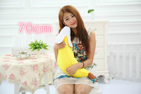 middle 70cm lovely banana plush toy, soft pillow birthday gift Xmas gift 0432