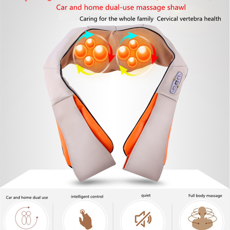 U Shape Electrical Shiatsu Back Neck Shoulder Massager Body Spa Infrared Heated kneading Massage Car Home