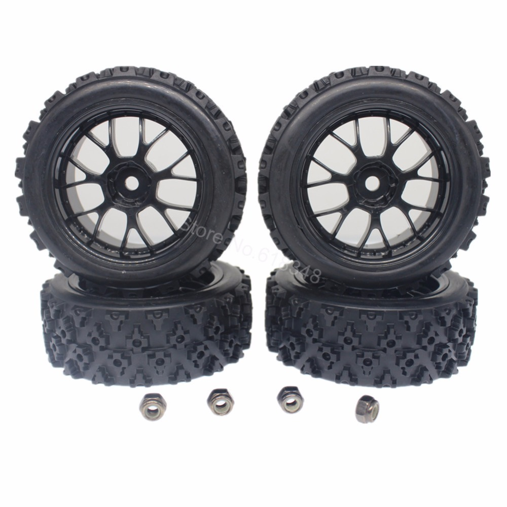 4x On Road Car Rally Car RC1:10 Letter U Rubber Tire+14 Spoke Wheel Rim Wheels, Tires, Rims & Hubs Toys & Hobbies