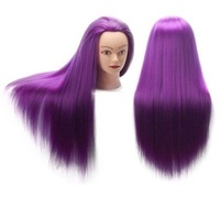 CAMMITEVER Dark Purple Hairdressing Mannequin Training Head Afro Mannequin Heads For Salon Hair Practice Styling Braiding