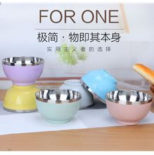 Chinese Stainless Steel Double Bowl Anti Break And Scalding Household Tableware Lunch