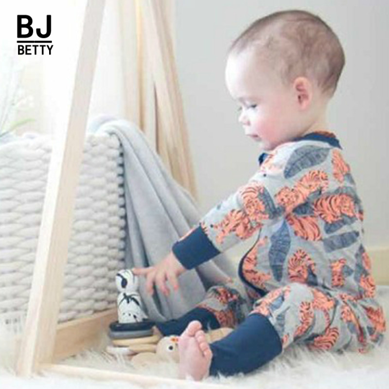 Responsible Baby Rompers Girl Clothes Jumpsuit Print Zipper Sleepers New Born Baby Boy Girls Costume Gift For 1-2 Yearbbr068 Relieving Rheumatism And Cold Boys' Baby Clothing