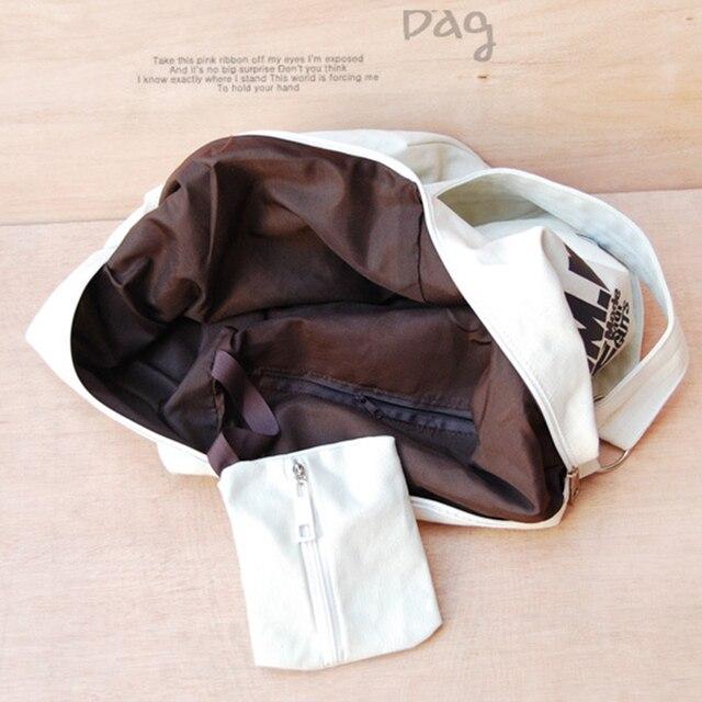 2019 Black Korean Over Shoulder Bags Women Female Irregular Canvas Crossed Body Crossbody Handbags Bag Ladies N Messenger Bags 5