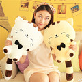 1pc 50m Lovely big tail large face cat plush toy pillow birthday gift holiday gift for Kids High Quality free shipping