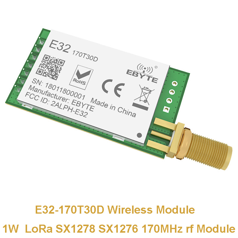 Lange Palette LoRa SX1278 SX1276 170 mhz rf Modul E32-170T30D 1 watt 170 mhz Wireless Transceiver iot Sender Empfänger