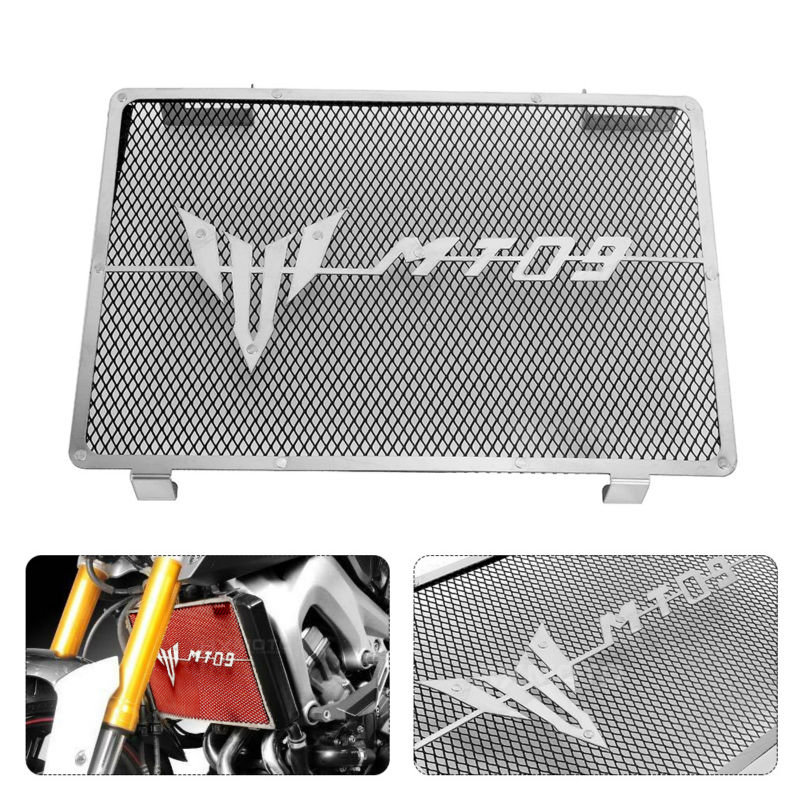 MDMOTO Motorcycle Engine Radiator Bezel Grille Guard Cover Protector Grill For Yamaha MT09 mt-09 mt 09 FZ09 FZ 09 2014-2017 2016 for yamaha fz 09 fz09 fz09 mt 09 mt09 mt 09 2014 2015 motorcycle engine protector guard cover frame slider