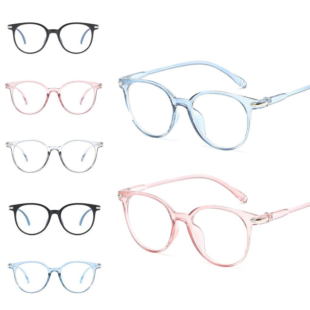 Women Men Light Computer Radiation Protection Eyewear Blue Light Blocking Spectacles Anti Eyestrain Decorative Glasses