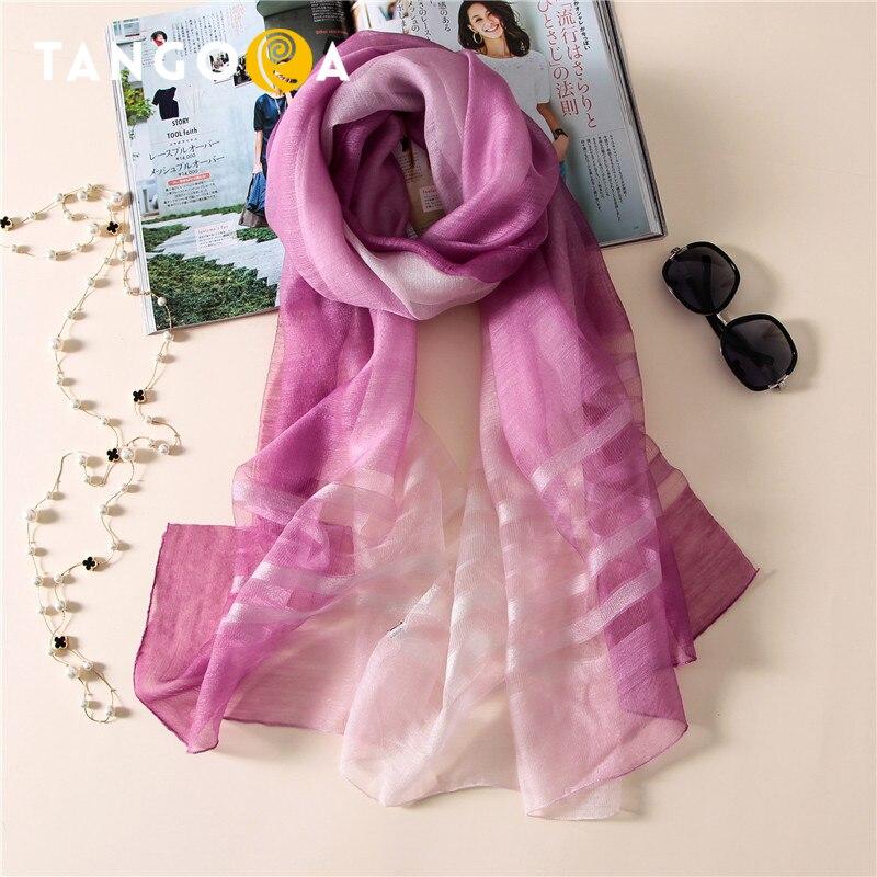 50 Wool 50 Silk Plaid Women Fashion Summer Scarves Woman Long Scarf Pareol Shawls Wraps 80x190cm