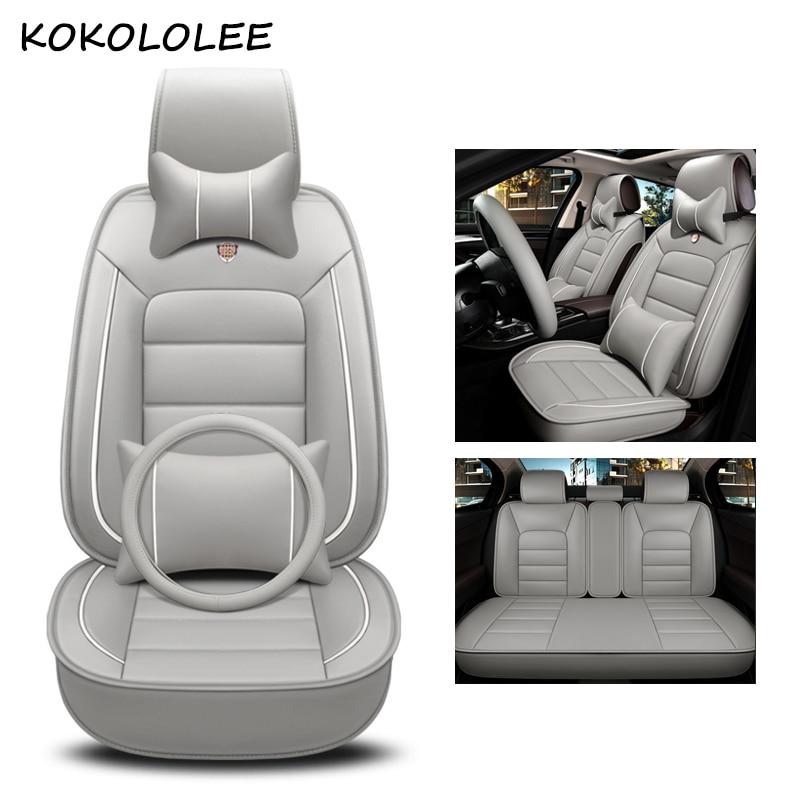 kokololee pu leather car seat cover For opel meriva zafira bmw f30 fiat palio vw polo